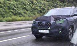 Updated frame SUV SsangYong Rexton caught on tests