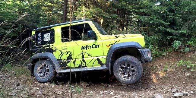 Real offroad test Suzuki Jimny off road in the Carpathian mountains