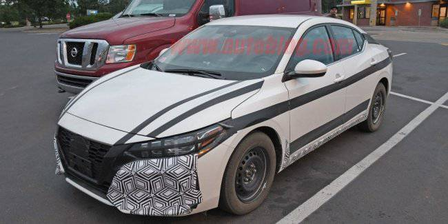 Nissan Sentra next-generation seen in the trials