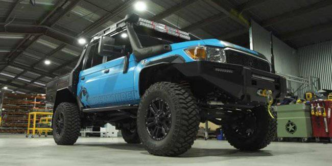 This Toyota Land Cruiser with portal axles will cope with any terrain