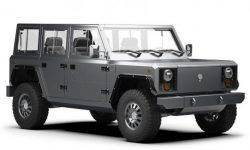 Soon will be the premiere of the production models checkrow SUV Bollinger
