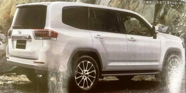 New Toyota Land Cruiser 300 2021 in the gloss of the first image