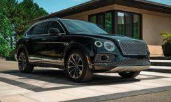 The Bentley Bentayga is still covered with armor