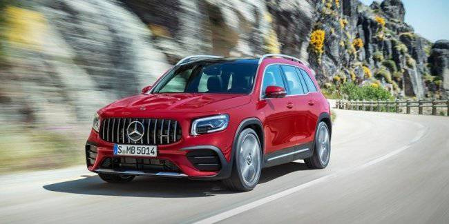 "Mercedes-AMG presented the ""charged"" version of compact seven-seat crossover GLB"