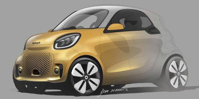 Smart revealed the design of future electric cars