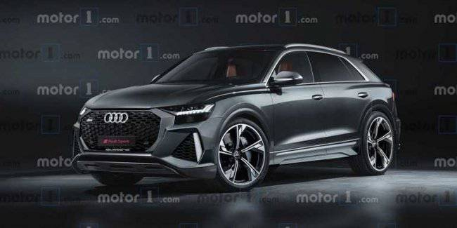Audi RS Q8 shown on rendering