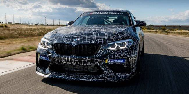 BMW has published a teaser racing M2 Competition