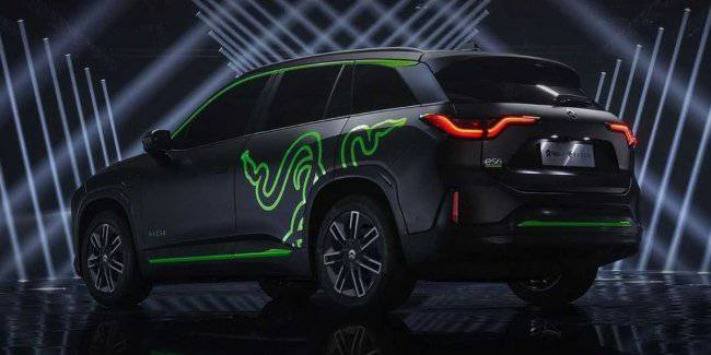 NIO and Razer unveiled an electric crossover ES6 Night Explorer Limited Edition