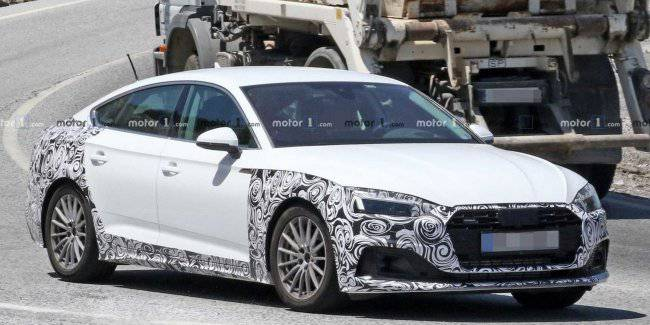 Updated Audi A5 Sportback spotted on the tests