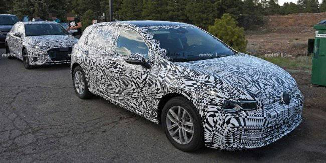 Hybrid Volkswagen Golf GTE 2020 spotted on the tests