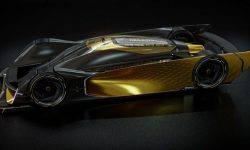 The designer has painted an incredibly beautiful hypercar Renault Le Mans