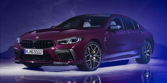 "Presented ""loaded"" four-door coupe BMW M8 Gran Coupe"