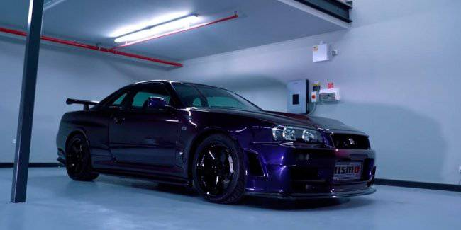 The video showed the most expensive version of the Nissan GT-R R34