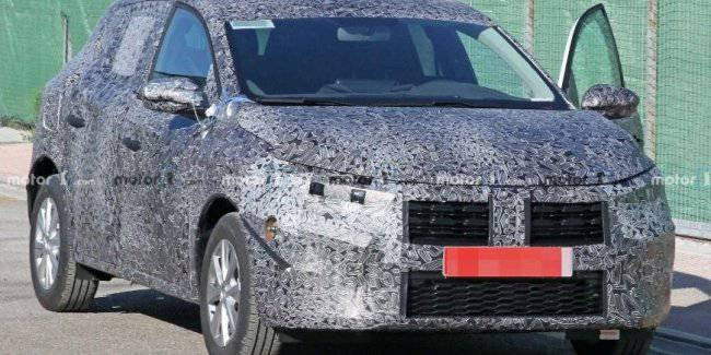 For the first time captured a prototype of the new Dacia Sandero