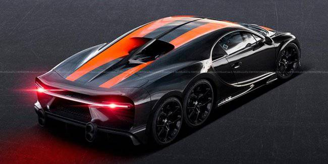 The Network showed images of a six-wheeled Bugatti Chiron SS
