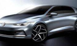 Appeared the first official sketches of the Volkswagen Golf