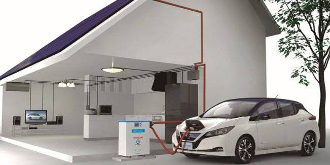 Nissan electric cars will provide electricity in the event of natural disasters