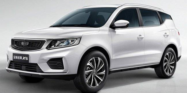Updated Geely Emgrand X7 crossover