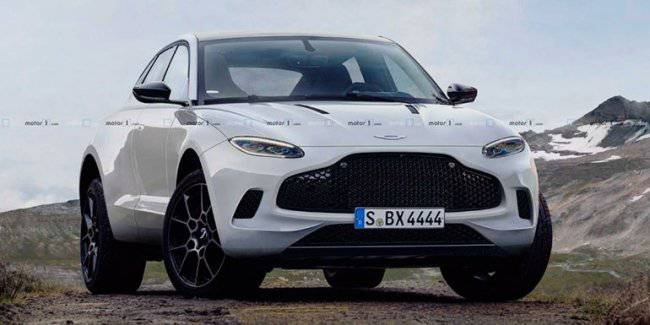 Crossover Aston Martin DBX cluttered with details