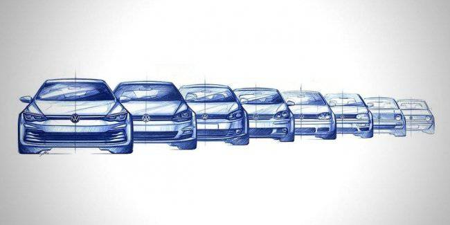 The evolution of the Volkswagen Golf was presented in a 30-second clip