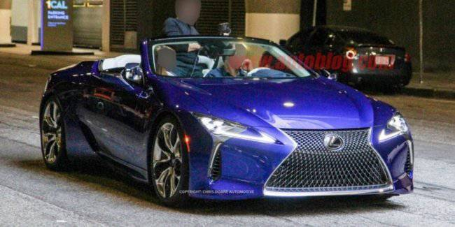 "In the network of ""declassified"" serial variation of the convertible Lexus LC"