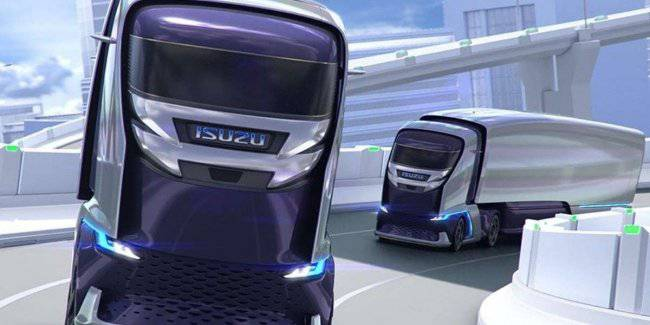 Isuzu presented a concept of its own unmanned truck