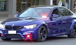 The police appeared BMW M3 to combat street racing