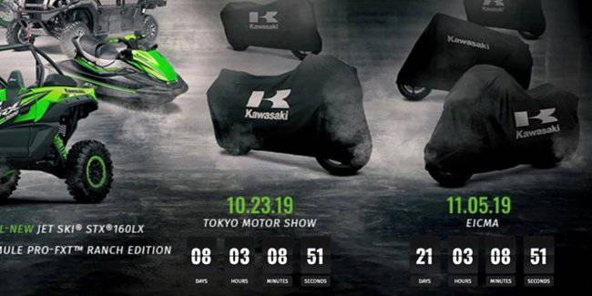 Kawasaki is preparing to introduce some of their new motorcycles