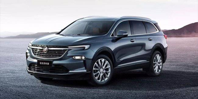 Buick showed a photo of the new seven-seat SUV Enclave