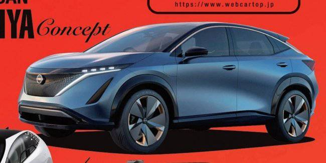The appearance of the first electric car Nissan revealed the day before the premiere