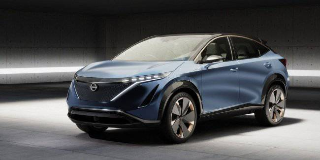 Nissan presented a concept electric crossover Aria