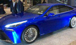 Toyota revealed hydrogen-powered electric sedan Mirai in Tokyo