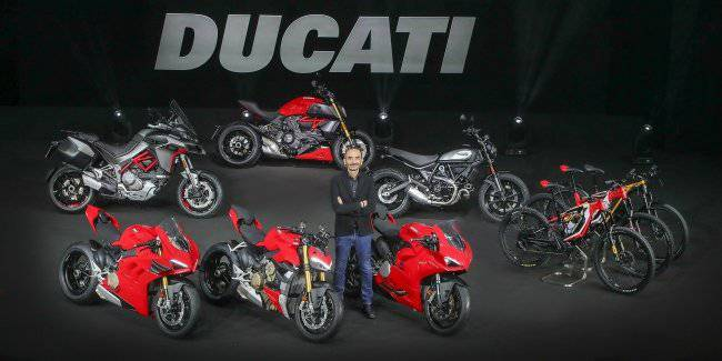 Ducati motorcycles introduced the 2020 model year