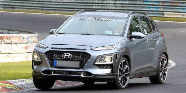"""""""Charged"""" Hyundai Kona N was caught on tests"""