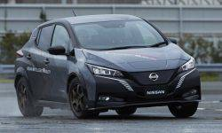 Nissan unveiled the prototype test Leaf e+
