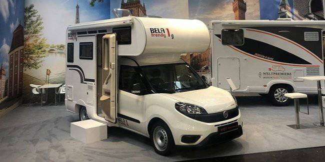 Fiat showed a miniature motorhome on the Fiat Doblo