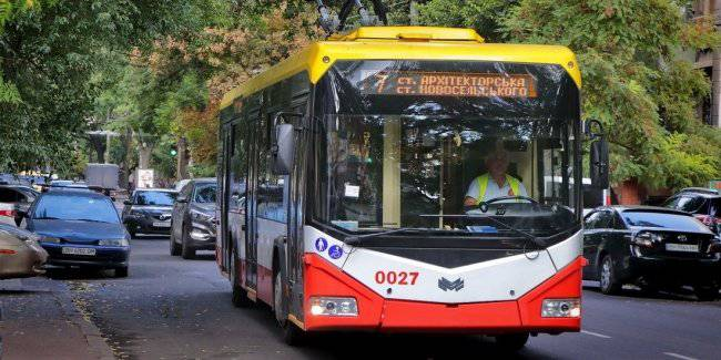 In Odessa municipal electric transportation market methods could oust the bus