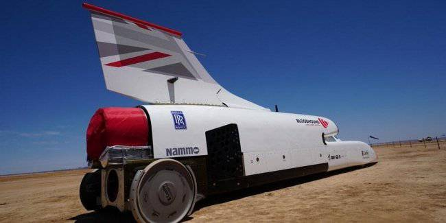 135000-horsepower car made its first race in the desert