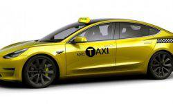 Following a taxi in new York can be a Tesla Model 3