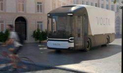 Shows the concept of an electric truck with a security feature