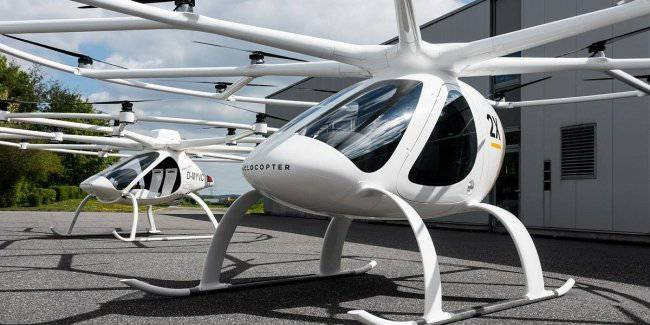 In Singapore experienced flying taxi Volocopter