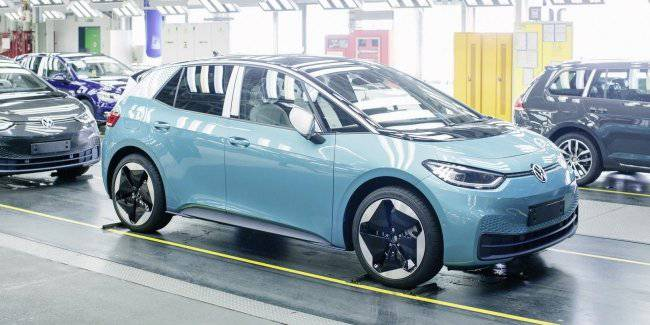 Volkswagen started production of the electric car VW ID.3