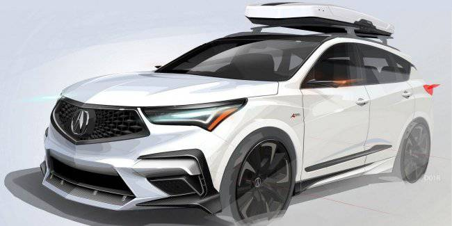 Acura decorated the crossover RDX carbon fiber to set the mood