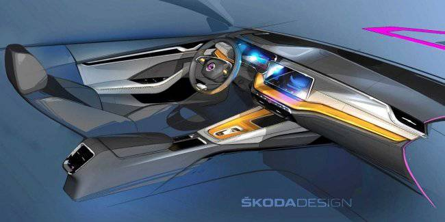 Appeared the first images of the interior of the new Skoda Octavia