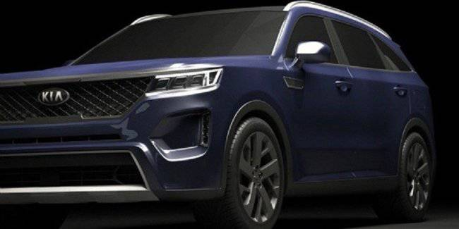 The exterior of the new KIA Sorento was unveiled on the Internet