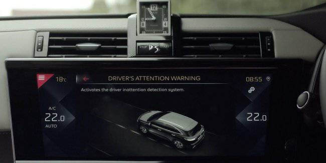 Crossover DS 7 Crossback received advanced control system fatigue