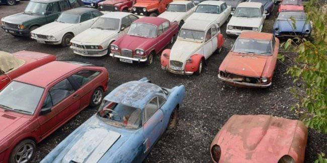 The hammer left a strange collection of 135 cars