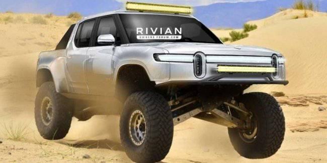 In the Network appeared the image of the American pickup truck Rivian R1T