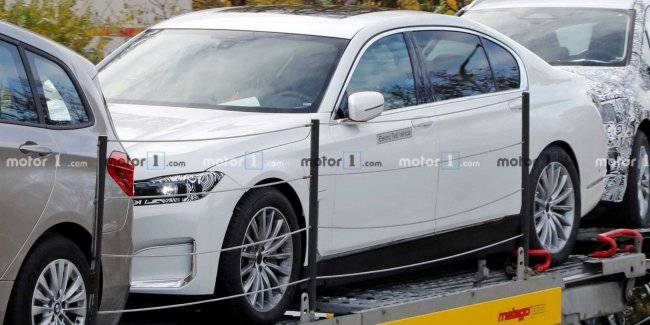 Electric version of the BMW 7-series: the first photos