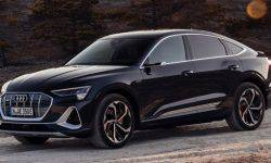 Presented electric coupe crossover Audi e-tron Sportback